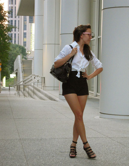 High-waisted shorts | AsianCajuns