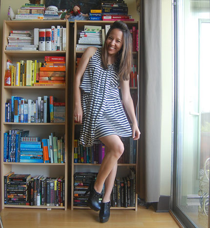 Dress is Jean Paul Gaultier for Target and shoes are from Cherry Bomb (in  L5P). 9ad028b63