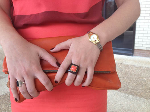 AsianCajuns Claire Vivier orange clutch
