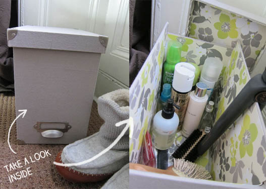 Vanity Organization hair box