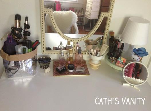 vanity organizing Cath