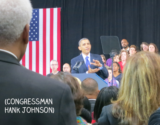 POTUS and Hank Johnson