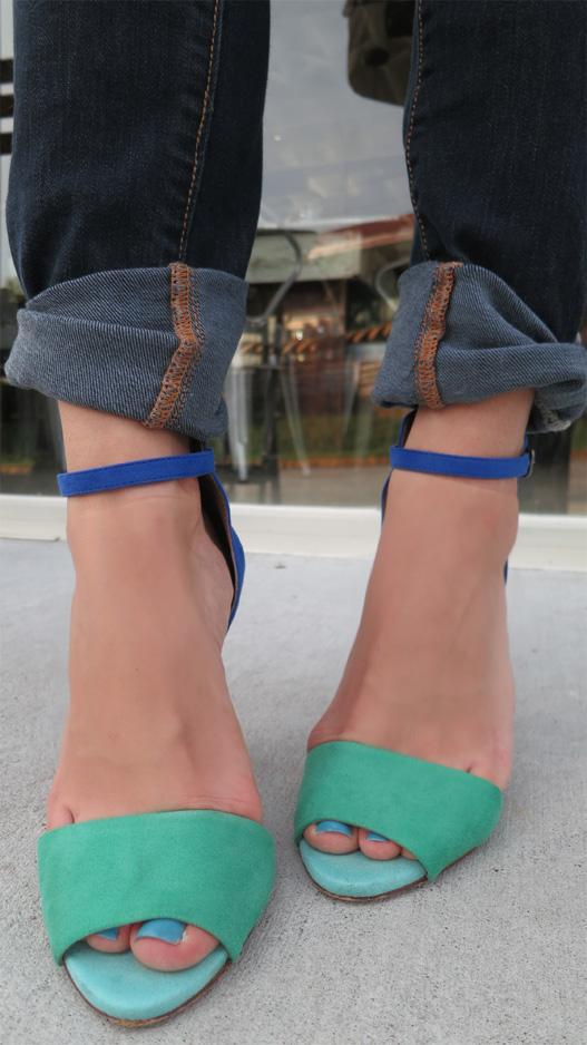 Zara turquoise heels