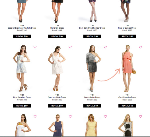 rent the runway site