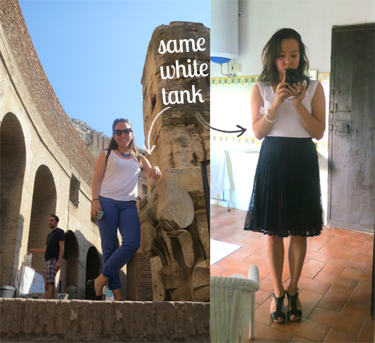 Italy Outfits white tank