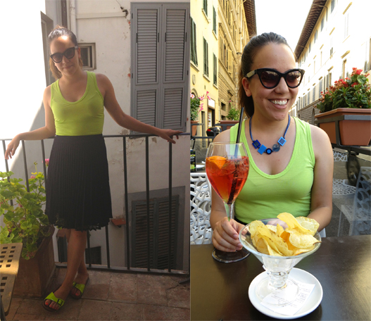 Italy outfit neon green and navy blue