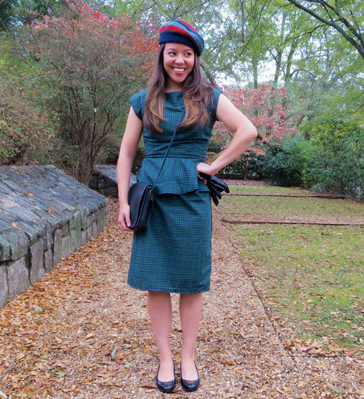 Shabby Apple Tartan dress without jacket