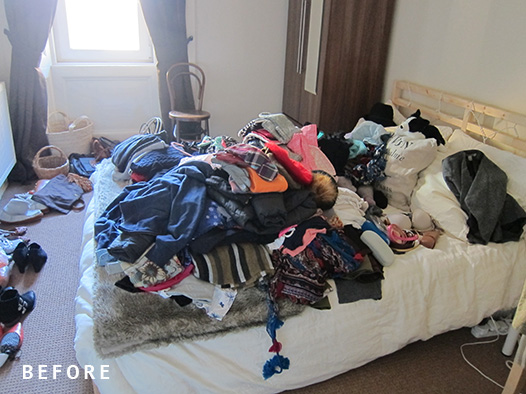 KonMari discard bedroom
