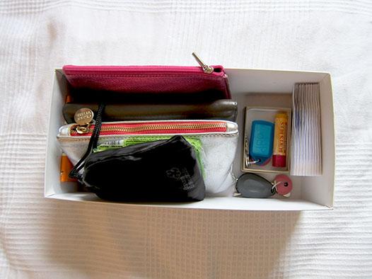 Kon Mari purse organizing
